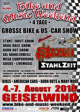 Bike and Musikweekend Geiselwind 2016