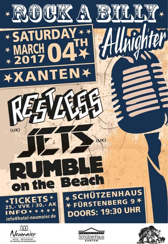 Rockabilly Xanten 04 März 2017